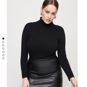 New Dynamite Kendra Faux Leather Skirt Size M